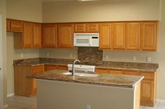An open kitchen for keeping the conversation going during family events and parties!