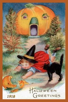Olde America Antiques | Quilt Blocks | National Parks | Bozeman Montana : Halloween - Halloween Greetings 4d: