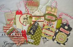 Scrapbook Christmas Gift Tags | Christmas Gift Tag Set *Authentique* - ... | xmas cards & tags