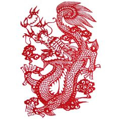 Chinese Dragon Paper Cut