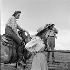 photo stories by LIFE photographers, Nina Leen, Peter Stackpole and Cornell Capa between 1947-48 at the University of Arizona Rodeo and the opening of the Flying L Ranch in Texas, vintage western wear