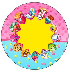 Shopkins: Free Printable Wrappers and Toppers for Cupcakes. Happy Birthday Banner Printable, Printable Banner, Happy Birthday Banners, Free Printable, Shopkins Birthday Cake, Shopkins Cake, Shopkins Happy Places, 9th Birthday Parties, 5th Birthday