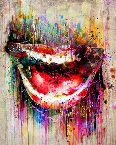 Smile Artwork Mouth art print Lips painting by RyanRArt on Etsy Dental Office Decor, Dental Office Design, Artist Canvas, Print Artist, Lips Painting, Mouth Painting, Painting Art, Art And Illustration, Dental Art