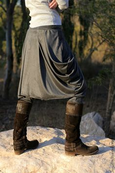 Boho stylish harem pants and skirt together. от ShantimamaShop