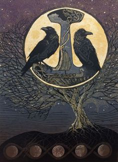 Hugin & Munin... Odin's faithful messengers.