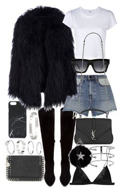 """Untitled #20878"" by florencia95 ❤ liked on Polyvore featuring Native Union, Zara, Alexander Wang, RE/DONE, CÉLINE, Yves Saint Laurent, STELLA McCARTNEY, Jennifer Fisher, Cartier and T By Alexander Wang"