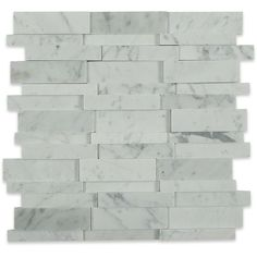 Shop Illusion Brick Pattern in Polished White Carrara Marble at… Cabana Decor, Stacked Stone Walls, Pool Cabana, Brick Patterns, Carrara Marble, Fireplace Design, 3d Wall, Illusions, Tile Floor