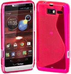 Amazon.com: Cimo S-Line Back Case Flexible TPU Cover for Motorola DROID RAZR M (XT907, 4G LTE, Verizon) - Pink: Cell Phones & Accessories