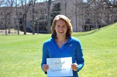 Lallie Lukens, Wellesley College '15      Equal Opportunity  #equality #opportunity #equity