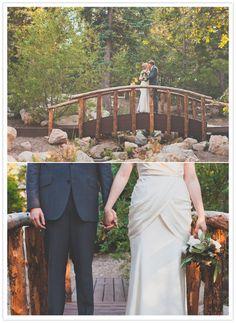 forest bridge wedding portraits