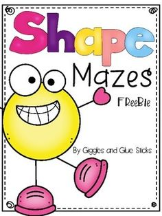 This pack is simple shape mazes for the early learner. It includes the shapes circle, square, rectangle, oval, diamond, triangle, Thank you!!
