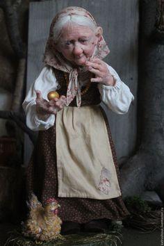 How I love this face! Ceramic Sculpture Figurative, Sculpture Clay, Dollhouse Dolls, Miniature Dolls, Polymer Clay Dolls, Polymer Clay Crafts, Elf Art, Woodland Creatures, Fairy Art