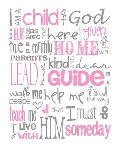 I Am a Child of God Nursery Subway Art Digital by MyPoshDesigns, $8.00