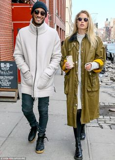 Valentine's Day stroll: On Tuesday, model Doutzen Kroes and husband Sunnery James took a walk around their New York neighborhood to celebrate the day of love
