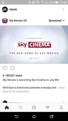 Sky ad, not relevant, i dont like sky