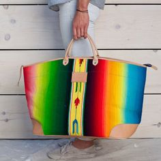 Wannahave ~ funky colorful Mexican blanket travelbag *oooooh I 'need' this!jn