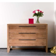 Ethnicraft Light frame teak chest of drawers | solid wood furniture