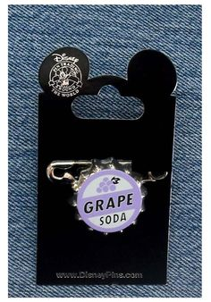 Disney Pin 79373: Disney-Pixar's Up - Ellie Badge Grape Soda