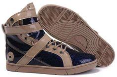 Heyday Footwear Super Shift Dark Blue Python Chocolate Sneakers