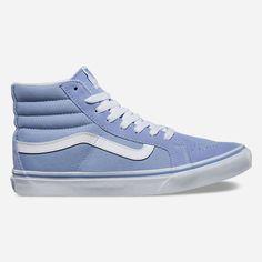 Vans Sk8-Hi Slim Womens Shoes ($65) ❤ liked on Polyvore featuring shoes, sneakers, vans footwear, high top lace up shoes, lace up shoes, hi tops and vans shoes