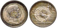 NumisBids: Nomisma Spa Auction 50, Lot 450 : Vittorio Emanuele III (1900-1946) 2 Lire 1913 Prima Prova – P.P....