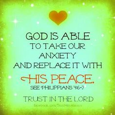 So thankful for His peace!