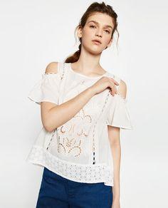 Imagen 3 de TOP DETALLE MANGA de Zara