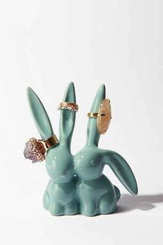 Love Bunnies Ring Holder - Urban Outfitters cuteness overload.
