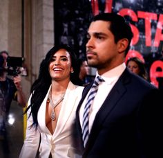Demi and Wilmer at the Grammy Awards - February Wilmer Valderrama, Queen Love, Best Friends Forever, Lady And Gentlemen, Demi Lovato, Backstage, Diva, Like4like, Beautiful Women