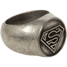 DC Comics Superman Logo Ring | Hot Topic ($19) ❤ liked on Polyvore featuring jewelry, rings, superman ring, superman jewelry and logo jewelry
