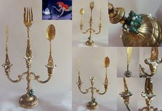 The Little Mermaid Candelabra-- would be a wonderful centerpiece for a disney party Little Mermaid Nursery, Little Mermaid Bathroom, Mermaid Bedroom, Little Mermaid Parties, Baby Mermaid, Mermaid Birthday, The Little Mermaid, Mermaid Tails, Mermaid Art