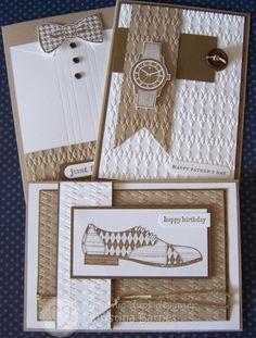 Cartões masculinos.