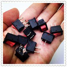 10 قطعة/الوحدة الأحمر 10*15 ملليمتر spst 2pin on/off G125 قارب الروك التبديل 3a/250 فولت سيارة داش شاحنة rv atv المنزل