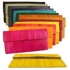 Genuine Eel Skin Rectangle Wallet Clutch Handbag Bag Purse