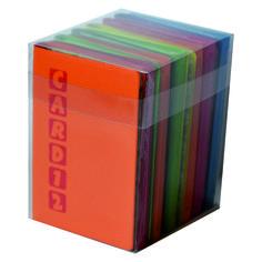 Box porta card da rivendita pz 12 porta card, formato cm 6,5X10 - 12 posti Colori assortiti
