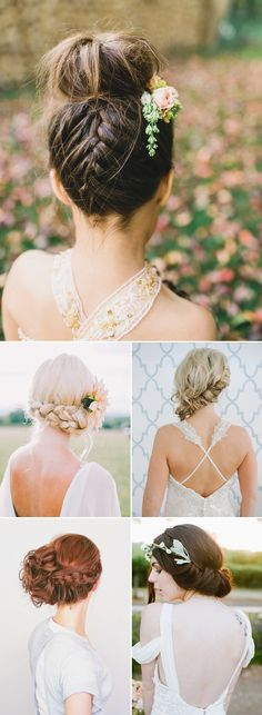 Oh So Romantic! 20 Natural Bohemian Bridal Hairstyles - Boho Updo