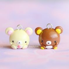 Hi everyone!   Last chubby animals I have to show you before the restock.. Rilakkuma and Korilakkuma! ✨  Originally I wasn't planning on making these, but as I was making the chubby bears I got into the bear zone and that's how these came along   Hope you like them! ✌  #polymerclay #polymer #clay #cute #kawaii #chubbyanimalcollectables #craft #handmade #sculpey #fimo #premo #sanx #rilakkuma #korilakkuma