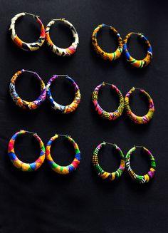 Ankara Hoop Earrings