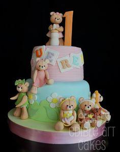Ositas para la bebé. Teddy bears birthdays #cake