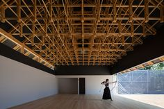 弓道場の天井