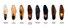 Velour Suede colors that offer a more casual, but dressed up look that amps your style.