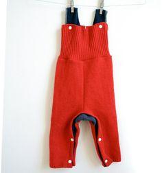 Wool longies overalls