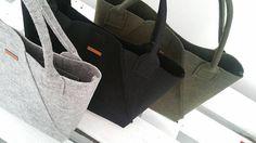 Handmade Black Felt Tote Bags - Geometric Bag - Shopper Bag - Felt Shopper - Felt Shoulder Bag - Carry All Bag - Hand Bag - Gift