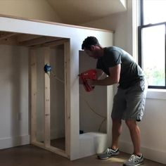 Learn how to build a super stylish bunk bed for your kids! The top can be used as a loft play area or a twin bed. Bunk Bed Rooms, Bunk Beds Built In, Loft Bunk Beds, Building Bunk Beds, Loft Twin Bed, Girl Loft Beds, Diy Bunkbeds, Murphy Bunk Beds, Queen Loft Beds