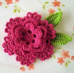 Como fazer flor de crochê - Passo a passo e modelos