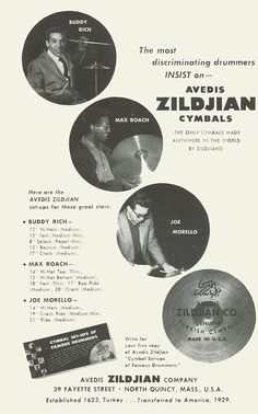 For all of you drummers out there - from the 1955 Newport Jazz Fest. Carpenters Band, Newport Jazz Festival, Zildjian Cymbals, Rush Band, Ludwig Drums, Vintage Drums, Drum Kits, Drummers, Percussion