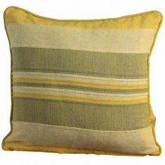 Morocco Cotton Striped Yellow Prefilled Cushion