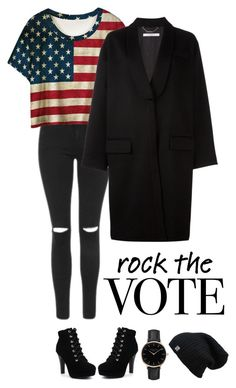 """""""Go Vote!"""" by dutchfashionlover ❤ liked on Polyvore featuring Topshop and Givenchy"""