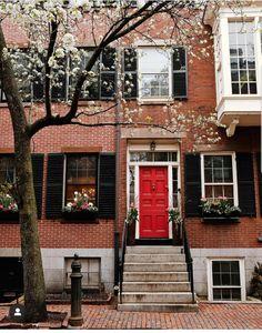 Beacon Hill, Boston Beacon Hill, Great Week, New England, Cool Girl, Cabin, House Styles, Outdoor Decor, Travel, Boston