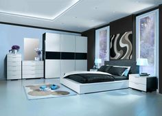 Bedroom. Bedroom. Remarkable And Delightful Interior Design For Bedrooms Styles. Artistic Black And White Art Bedroom Wall Decor Feature White Black Glossy Wooden Wall Mounted Bedroom Furniture Sets And Architecture White Ceramic Bedroom Floor. Interior Design For Bedrooms Ideas. Remarkable And Delightful Interior Design For Bedrooms Styles